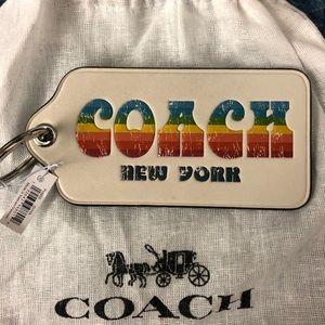 Vintage Style Coach New York Key Chain w/ dust bag